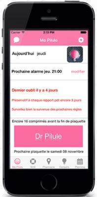 Dr Pilule : nouvelle application pour le rappel de pilule