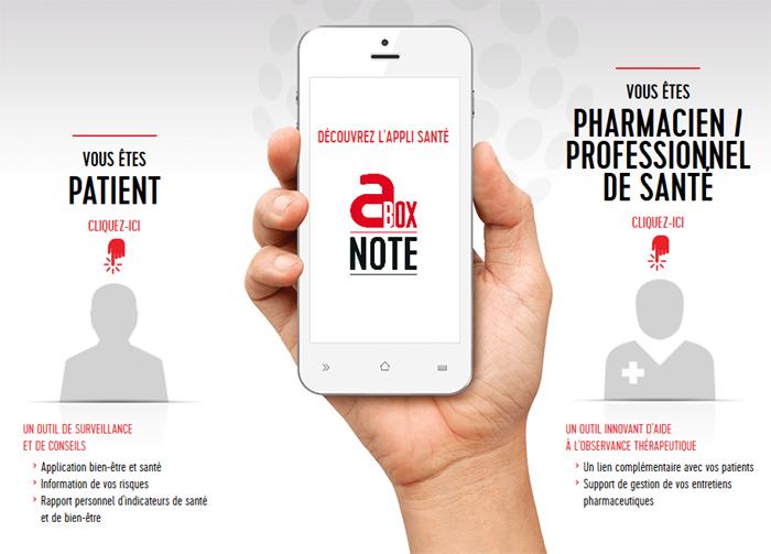 Abox note : carnet de santé sur mobile