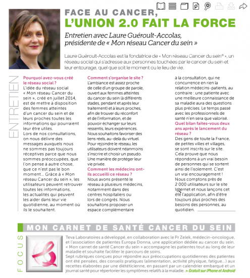 Face au cancer, l'union 2.0 fait la force
